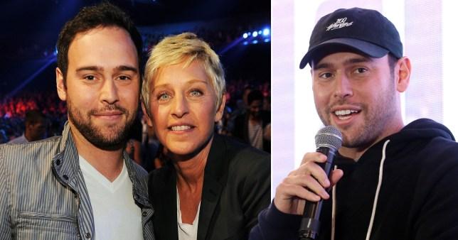 Scooter Braun and Ellen DeGeneres