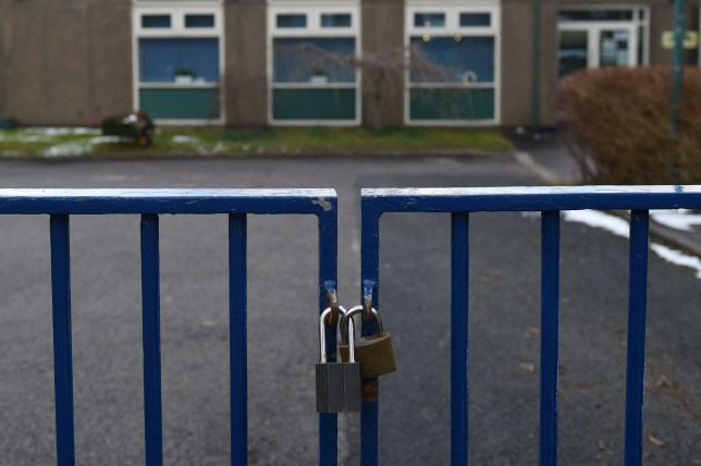 A general view is pictured of Burbage Primary School in Buxton, Derbyshire on February 27, 2020, after the closure of the school as a pupil's parent has tested positive for the novel coronavirus COVID-19. - European and US stock markets slumped heavily again Thursday as new coronavirus infections spread outside China. Around 2,800 people have died in China and more than 80,000 have been infected. There have been more than 50 deaths and 3,600 cases in dozens of other countries, raising fears of a pandemic. (Photo by Oli SCARFF / AFP) (Photo by OLI SCARFF/AFP via Getty Images)