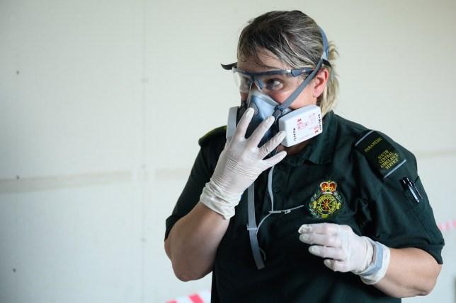 paramedic wearing PPE