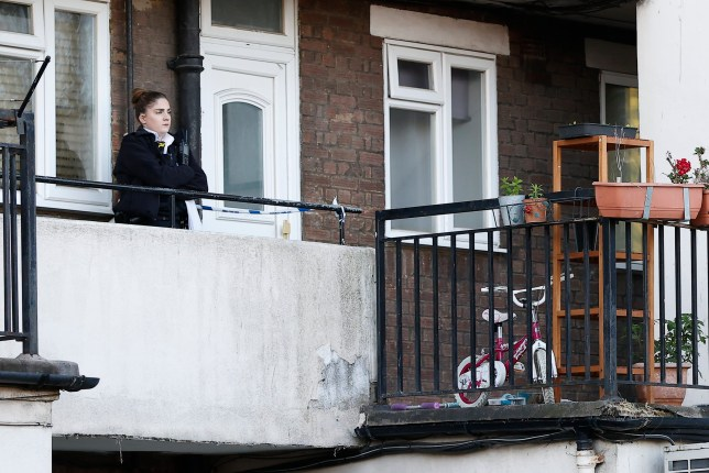 A girl has died after being found at a flat in Mitcham