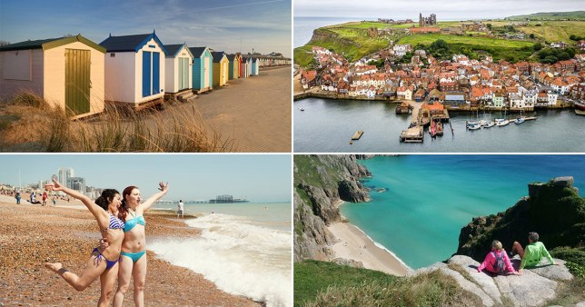 four different coastal towns in the UK