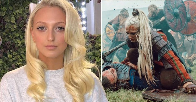 Vikings star Georgia Hirst gets fans excited for season 6B with battlefield throwback (Picture: @geehirst/Instagram)