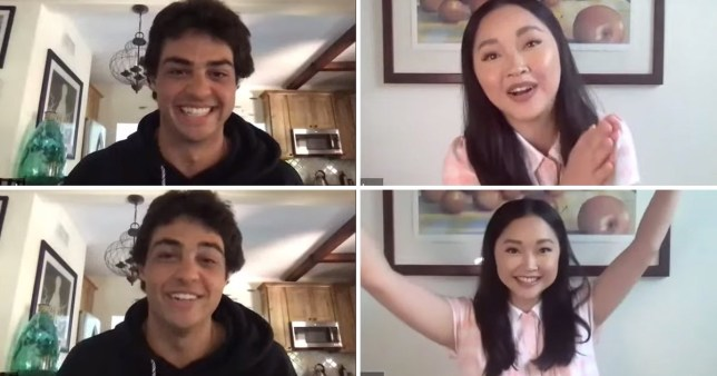 To All The Boys 3 sneak peek table read (Picture: Lana Condor/YouTube)