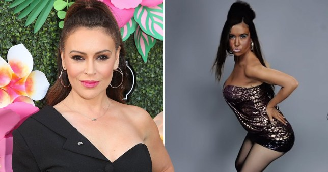 Alyssa Milano denies blackface, was parodying Snooki (Picture: Getty, Funny Or Die/YouTube)