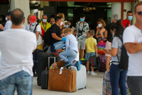 Passengers arrive to Palma de Mallorca airport, amid the coronavirus disease (COVID-19) outbreak in Palma de Mallorca, Spain July 2, 2020.