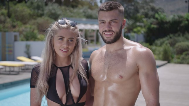 Editorial Use Only. No Merchandising. No Commercial Use Mandatory Credit: Photo by ITV/REX (10531821s) Paige Turley and Finley Tapp 'Love Island' TV show, Series 6, Episode 10, South Africa - 21 Jan 2020