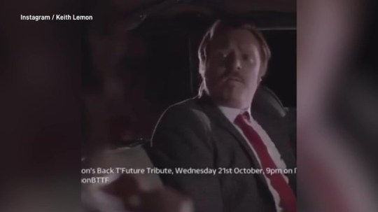 Keith Lemon's tribute to back to the future