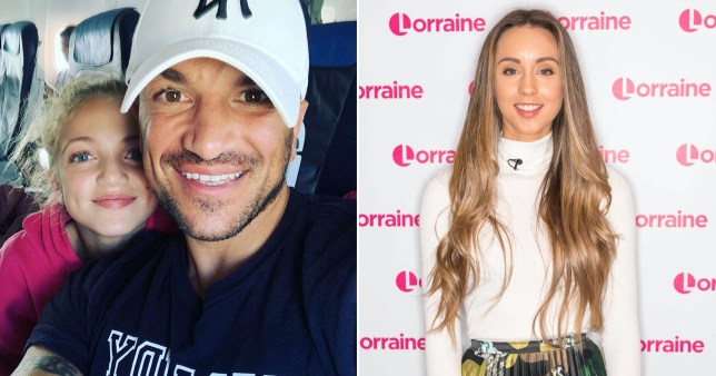 Peter Andre and daughter Princess pictured together alongside Emily MacDonagh pictured at Lorraine