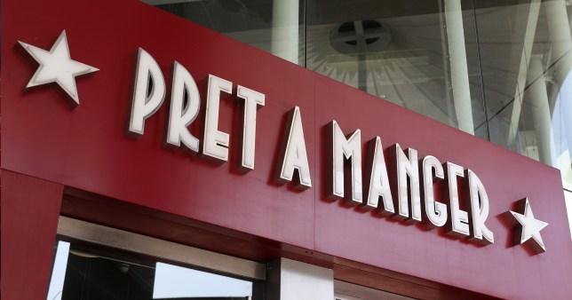 Pret a Manger store sign
