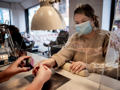 What treatments can beauty salons do when they reopen in England?