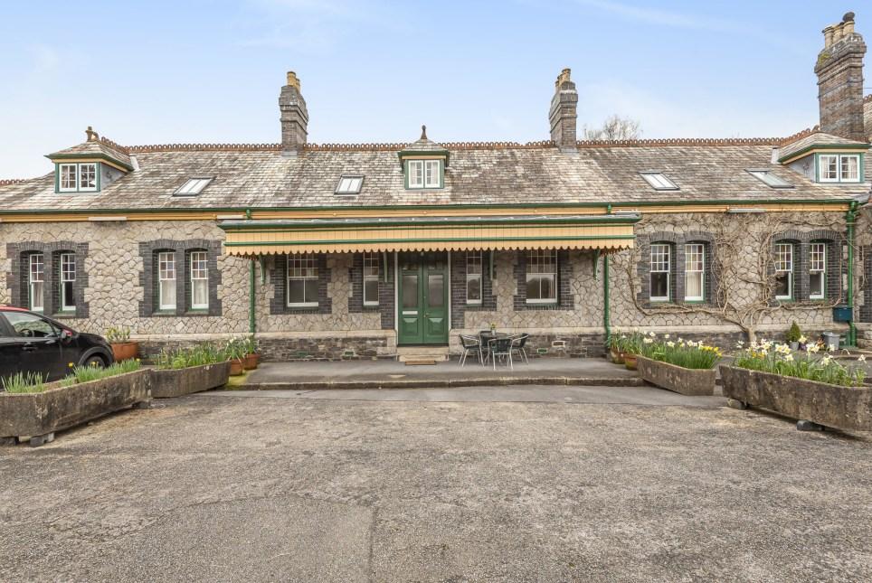 converted train station home in tavistock