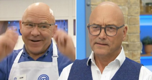 Dom Littlewood and Gregg Wallace pictured alongside each other on Celebrity MasterChef
