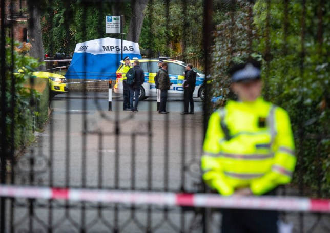 The scene in Seely Drive, Dulwich, south London following the fatal stabbing of an 18 year old man. PA Photo. Picture date: Wednesday July 8, 2020. See PA story POLICE Dulwich. Photo credit should read: Dominic Lipinski/PA Wire