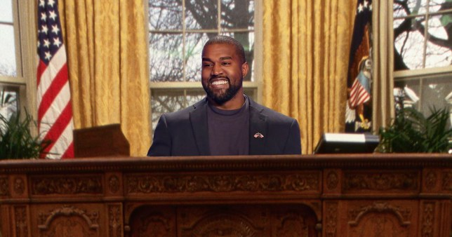 Kanye West in the Oval Office