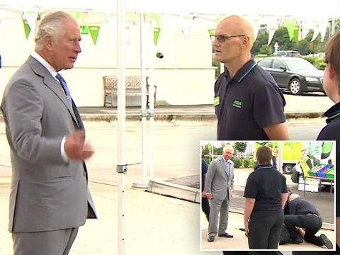 Asda worker faints in front of Prince Charles during visit to thank staff