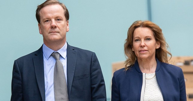 Former Conservative MP Charlie Elphicke arriving at Southwark Crown Court, London, alongside MP for Dover Natalie Elphicke, where he faces three charges of sexual assault. PA Photo. Picture date: Monday July 6, 2020. See PA story COURTS Elphicke. Photo credit should read: Dominic Lipinski/PA Wire