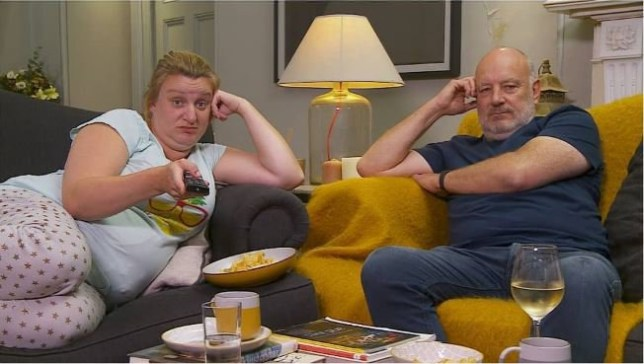 Daisy May Cooper and her dad as they appear on Gogglebox Channel 4