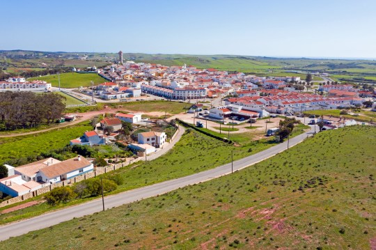 Antenne du village Vila de Bispo dans l'Algarve Portugal