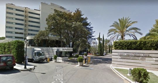 Brit plonge à mort depuis le 7e étage de l'hôtel Marbella Gran Melia Don Pepe.