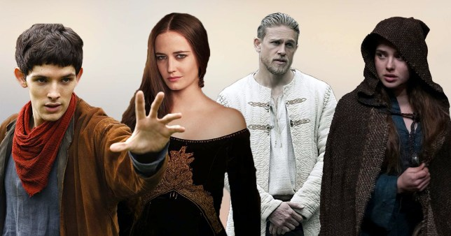 Four actors including Colin Morgan, Eva Green, Charlie Hunnam and Katherine Langford