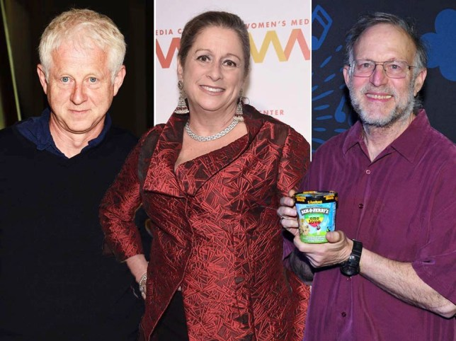 Composite image of Richard Curtis, Abigail Disney and Jerry Greenfield