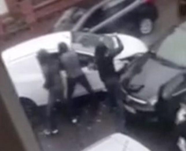 Man stabbed with pitchfork in Manchester in brutal filmed scenes