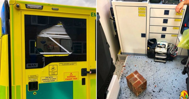Three North East Ambulance Service crews were attacked in separate incidents after a night of carnage