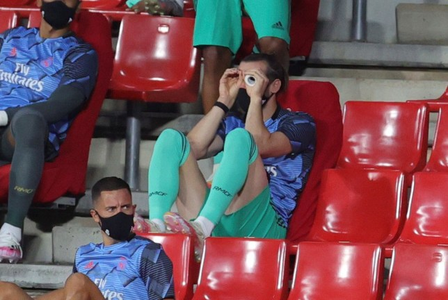 Gareth Bale was fooling around in the stands again as Real Madrid closed in on the La Liga title