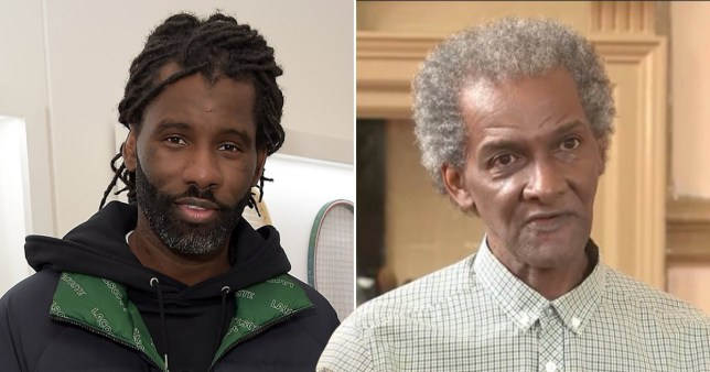 Wretch 32 pictured alongside his father Millard Scott appearing on ITN