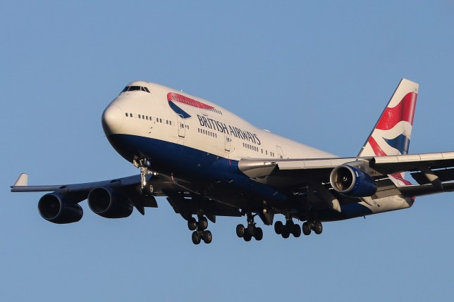 British Airways Boeing 747 landing at its home base London Heathrow Airport, England. The aircraft type is a Jumbo Jet known as Queen of the skies with registration G-CIVH and specific type Boeing 747-400 (747-436) and has 4 RR RB.211 jet engines. The airplane is flying for British Airways since April 1996. BA operates 36 Boeing 747-400 but all of them will be retired by 2024. (Photo by Nicolas Economou/NurPhoto via Getty Images)