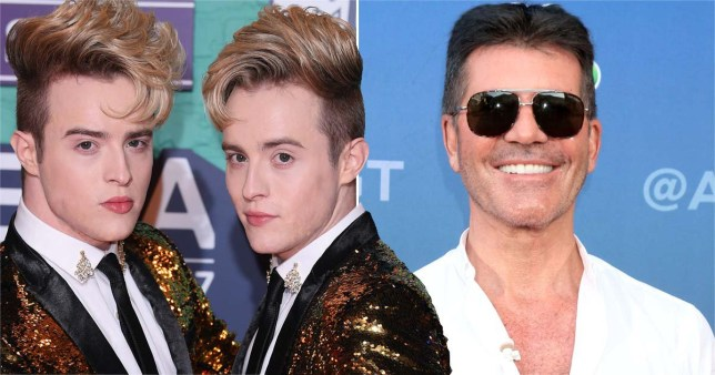 Jedward and Simon Cowell