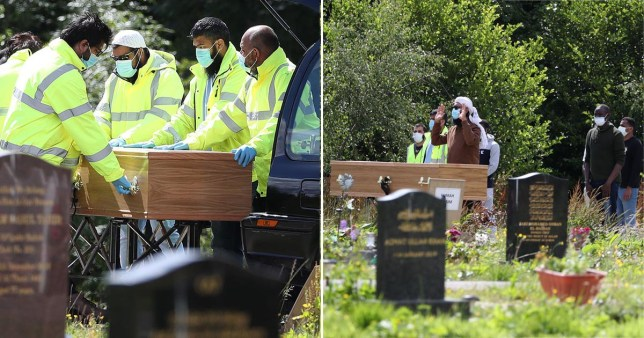 The funeral of Badreddin Abadlla Adam, who stabbed six people in Glasgow