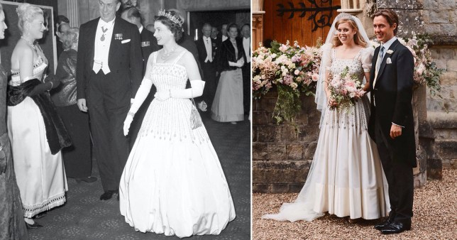 Princess Beatrice Upcycles Queen S Dress From 1961 For Her Wedding