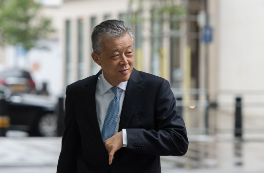 Mandatory Credit: Photo by Wiktor Szymanowicz/REX (10716164d) Liu Xiaoming, Chinese ambassador to the UK, arrives at the BBC Broadcasting House in central London 'The Andrew Marr Show' TV show, London, UK - 19 Jul 2020