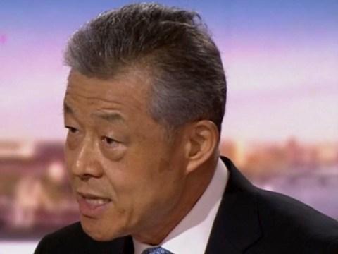 Chinese ambassador ignores shocking footage of Uighur Muslims loaded onto trains