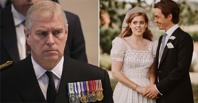 The Duke of York wasn't seen in the publicly released wedding photos