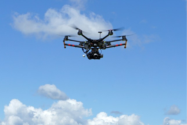 Stock image of a drone
