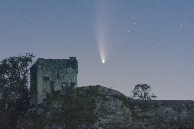 The Neowise comet over Derbyshire