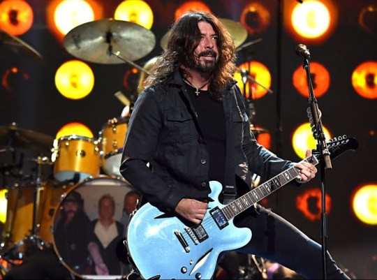 Dave Grohl performs on stage with Foo Fighters