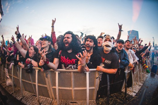 A nostalgic look back at the largest UK festivals of 2019 CASTLE DONINGTON, ENGLAND - JUNE 15: Festival goers enjoy themselves during day 2 of Download festival 2019 at Donington Park on June 14, 2019 in Castle Donington, England. (Photo by Joseph Okpako/WireImage)