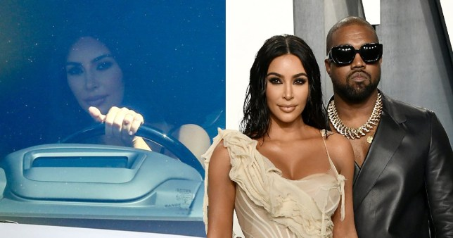 Kim Kardashian seen the first time since Kanye West's apology on social media - ?50pp Pic: Backgrid/Getty