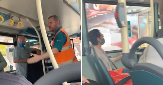 A furious row erupted on an Arriva bus over the use of face masks, resulting in the driver having to intervene. Tempers flared on the number 10 Arriva bus in an argument captured on film showing passengers involved in a loud confrontation over the use of face masks.