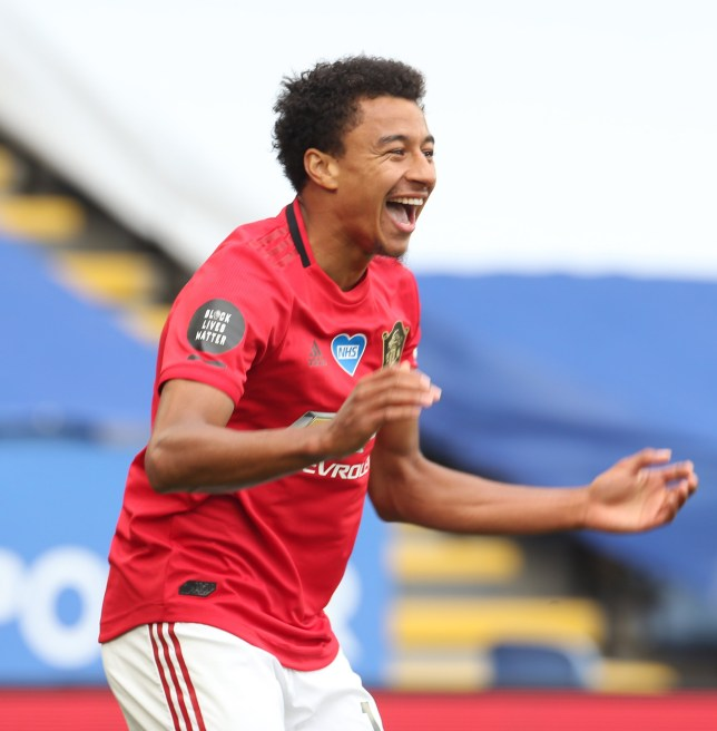 Manchester United's Jesse Lingard scored his first Premier League goal of the season on the final day of the campaign