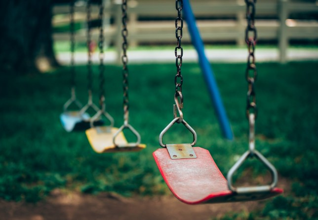 Police launch manhunt after stranger tries to snatch child, two, from playground in Wiltshire.
