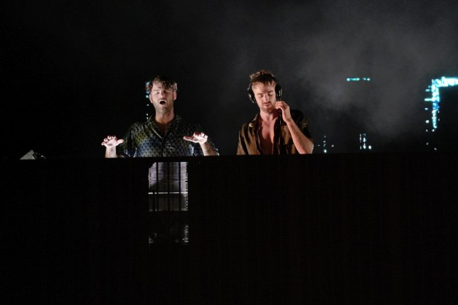 The Chainsmokers Alex Pall and Drew Taggart perform in the Hamptons at the first Covid conscious Drive in concert in the Hamptons