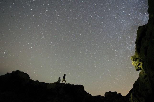 Delta Aquarids meteor shower in Spain