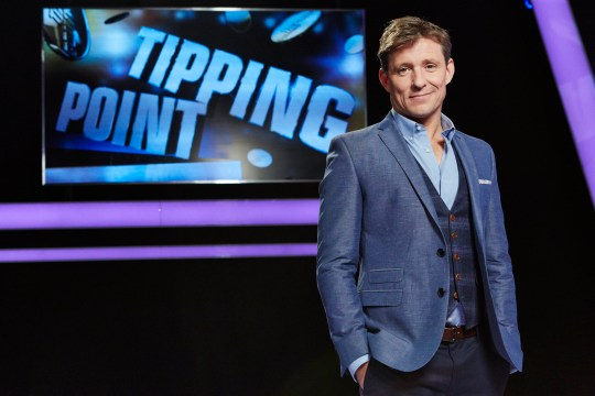 From RDF Television TIPPING POINT On ITV Pictured: Presenter Ben Shephard. Presented by Ben Shepard.. Tipping Point is a show centred around an extraordinary machine filled with counters worth thousands of pounds. A game of knowledge, skill and tactics; players must answer questions to win turns on the machine. Get a question wrong and the machine won't pay out, resulting in the player with the least amount of money at the end getting eliminated. The last player standing goes head to head with the Tipping Point machine and they'll be focussed on just one counter the golden jackpot disc. Again, answering questions for the right to play the machine, they'll win a big cash sum if they can make it release the jackpot counter. For further information please contact Peter Gray 0207 157 3046 peter.gray@itv.com This photograph is (C) RDF Television and can only be reproduced for editorial purposes directly in connection with the programme or event mentioned above, or ITV plc. Once made available by ITV plc Picture Desk, this photograph can be reproduced once only up until the transmission [TX] date and no reproduction fee will be charged. Any subsequent usage may incur a fee. This photograph must not be manipulated [excluding basic cropping] in a manner which alters the visual appearance of the person photographed deemed detrimental or inappropriate by ITV plc Picture Desk. This photograph must not be syndicated to any other company, publication or website, or permanently archived, without the express written permission of ITV Picture Desk. Full Terms and conditions are available on www.itv.com/presscentre/itvpictures/term