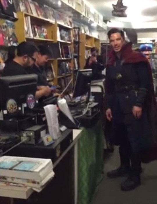 Picture: @@scottderrickson Throwback of Benedict Cumberbatch as Dr Strange