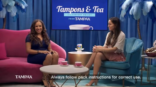 Tampax ad banned in Ireland Picture: Tampax
