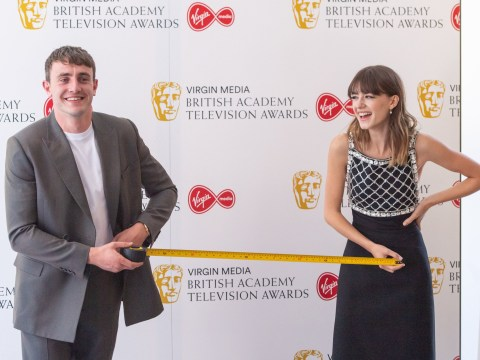 Normal People's Paul Mescal and Daisy Edgar-Jones reunite at the TV Baftas… a metre apart